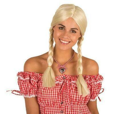 Pruik met vlechten blond