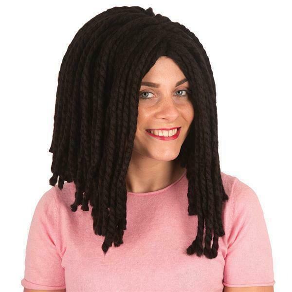 Pruik rasta zwart halflang Bob Marley