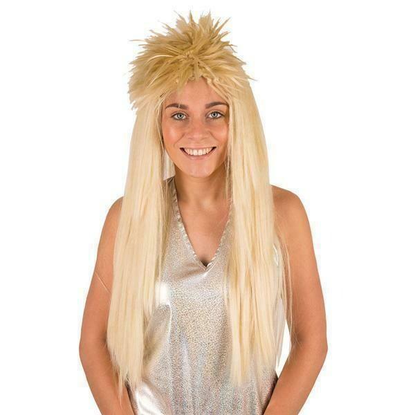 Pruik punk lang blond