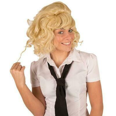 Pruik Olivia Grease blond , halflang
