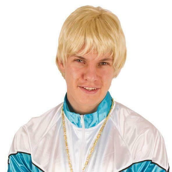 Pruik kort blond
