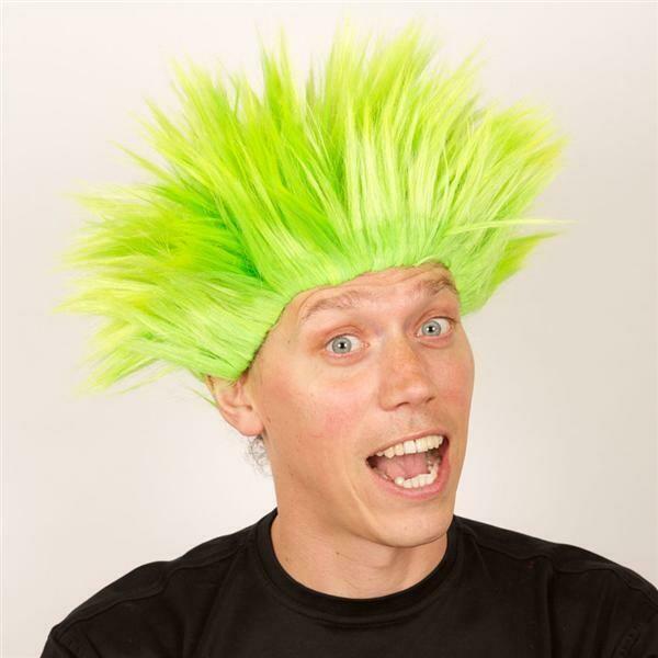 Pruik Electric shock trol Groen