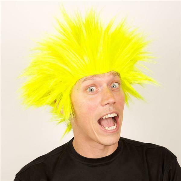 Pruik Electric shock trol Geel