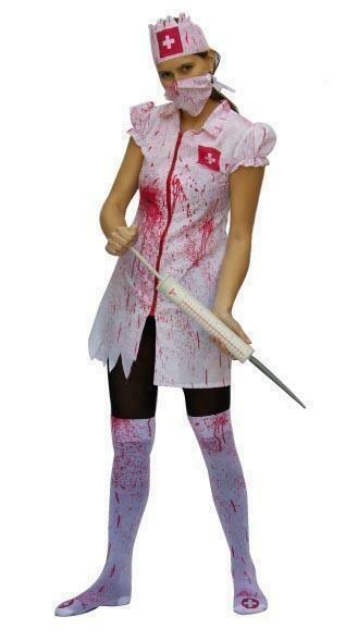 Verpleegster kostuum met bloed Zombie nurse Volwassenen