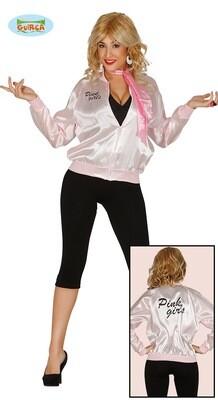 Pink Ladies vestje lichtroze Grease kostuum volwassen