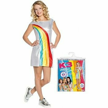 K3 kleedje Regenboog Volwassenen kostuum