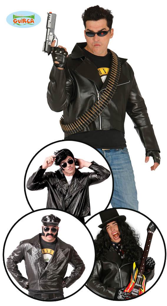 Vest nep leder John Travolta Grease Biker Rock Punk voor volwassenen