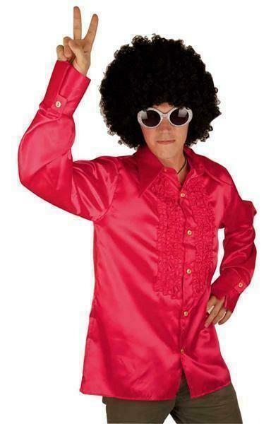 Discohemd roze Seventies - Eighties Disco volwassenen