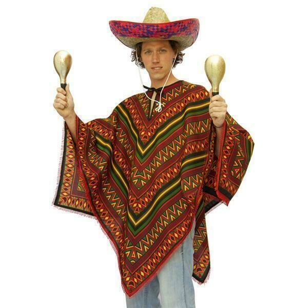Poncho Mexicaan verkleedkostuum voor Mexico volwassenen