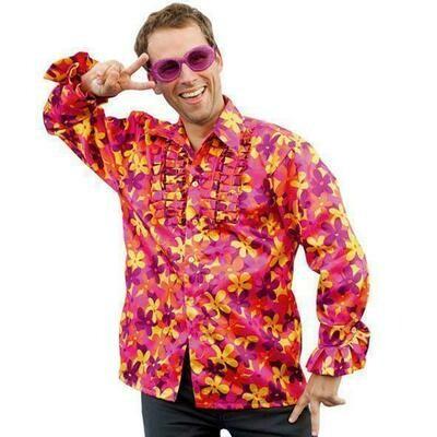 Hemd Hawaï bloemenhemd volwassenen Hippie Flower power Seventies