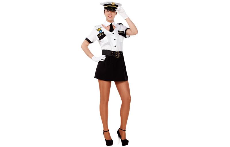 Navy - Stewardess kostuum volwassenen Large