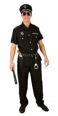 Politieman kostuum volwassenen Politie zwart T 54