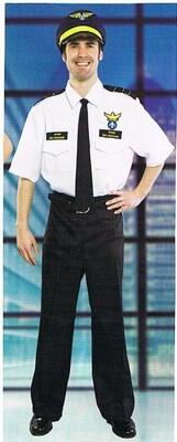 Piloot kostuum volwassenen maat Large