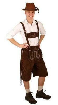 Tirolerbroek Bruin  Bierfeesten Tirol kostuum volwassenen Oberbayern