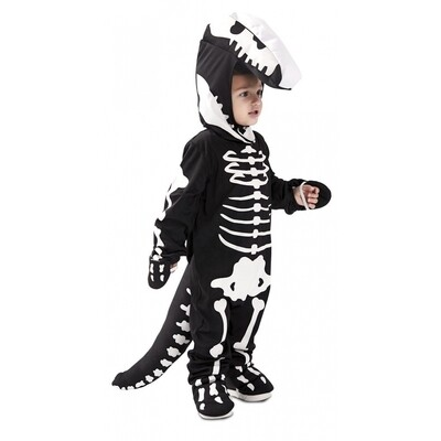 Dinosaurus skelet kostuum kind verkleedkledij