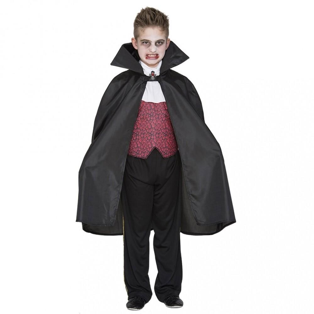 Cape vampier zwart kind verkleedkostuum