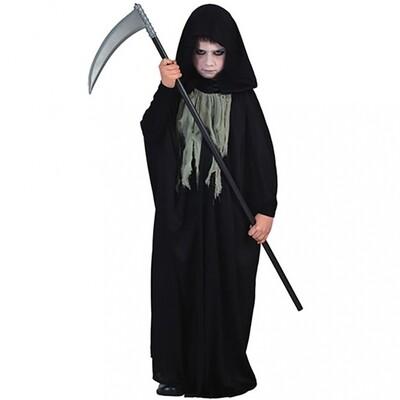 Cape met kap zwart kostuum kind verkleedkledij