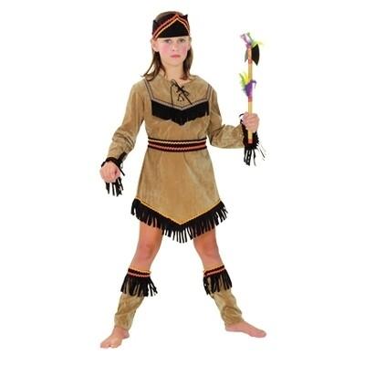 Indianenmeisje kostuum kind Indiaanse verkleedkledij Squaw