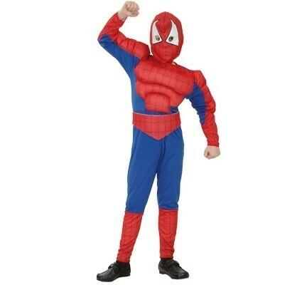 Spiderman gespierd ! kostuum kind verkleedkledij Superheld