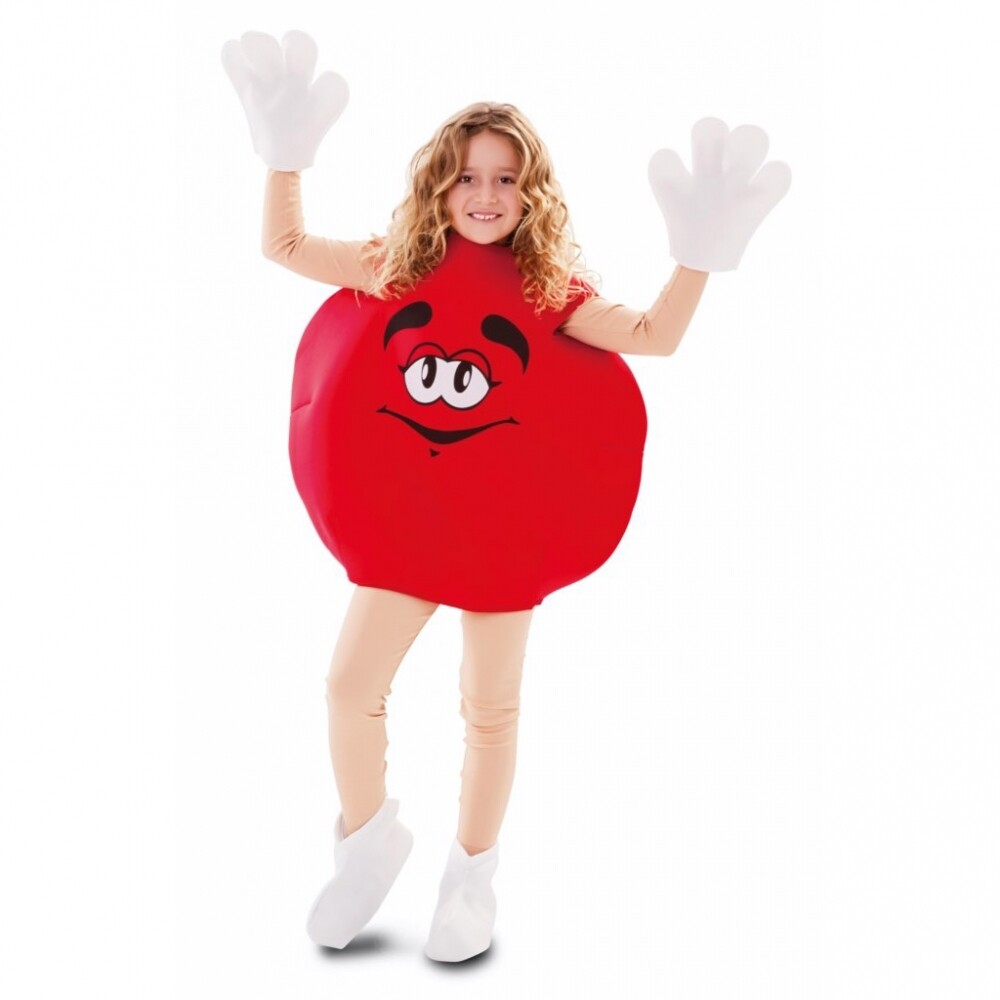 M&M Rood snoepje kostuum kind verkleedkledij