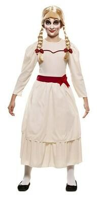 Annabelle kostuum kind verkleedkledij meisjespop Halloween