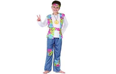 Hippie kostuum kind Peace Seventies verkleedkledij Flower Power jongen