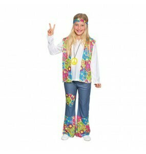 Hippie kostuum kind Peace Seventies verkleedkledij Flower Power Meisje