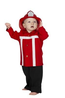 Brandweerman kostuum kind maat 86 verkleedkledij baby peuter