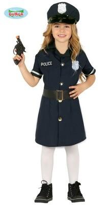 Politie meisje kostuum kind verkleedkledij Agente Maat 104 voor 3 tot 4 jaar