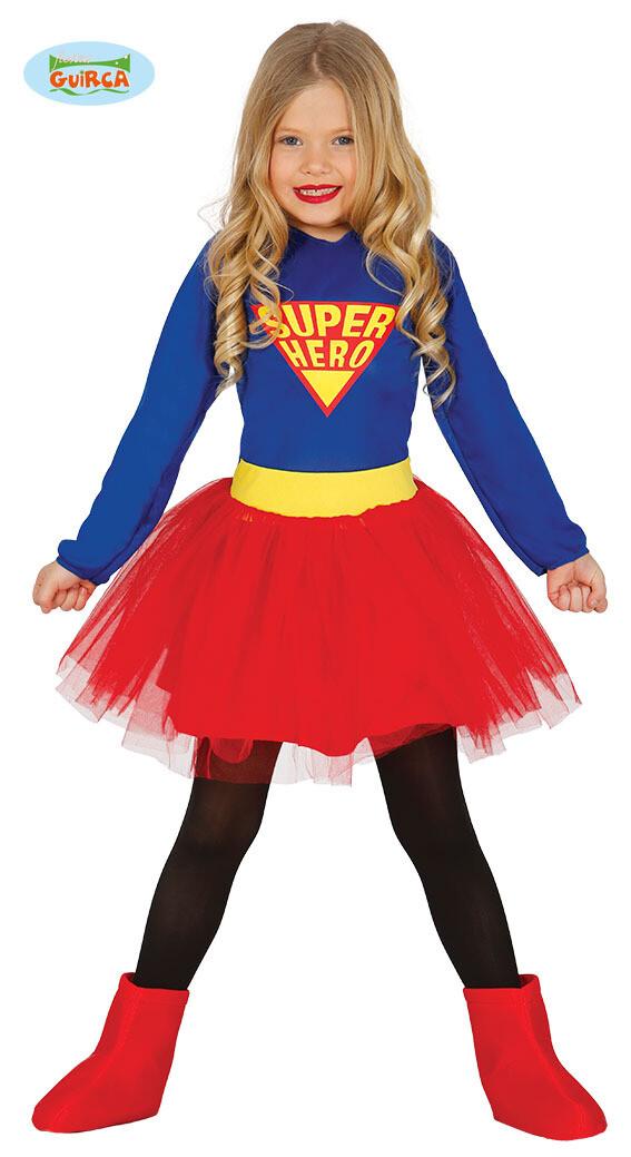 Superwoman kostuum kind verkleedkledij Superheld Maat 104 voor 3 tot 4 jaar Supergirl