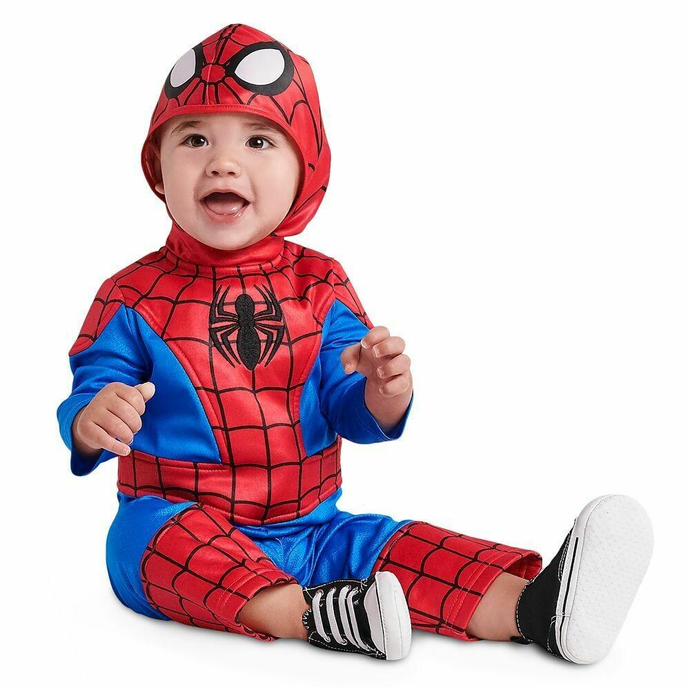 Spiderman Baby Marvel kostuum verkleedkledij Superheld voor 12 tot 18 maanden Maat 80