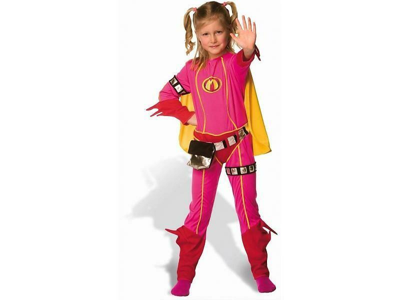 Mega Mindy kostuum kind met masker ! Studio 100 verkleedkledij Superheld Maat 110 voor 3 tot 5 jaar