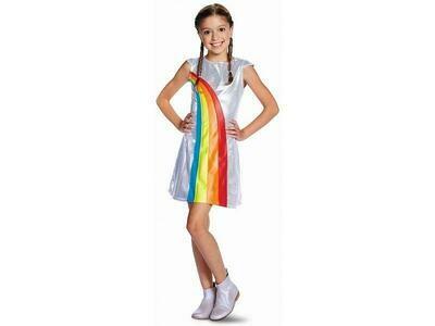 K3 kleedje regenboog kostuum kind verkleedkledij voor 3 tot 5 jaar maat 116