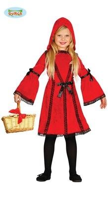 Roodkapje kostuum kind verkleedkledij sprookjes voor 5 tot 6 jaar maat 116