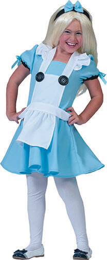 Alice in Wonderland kostuum kind 6 jaar verkleedkledij maat 116 Disney