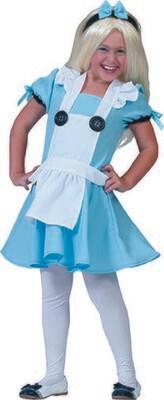 Alice in Wonderland kostuum kind 6 jaar verkleedkledij maat 116 Disney