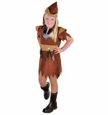 Robin Hood meisje kostuum kind voor 5 tot 6 jaar maat 116 verkleedkledij Disney Indianenmeisje