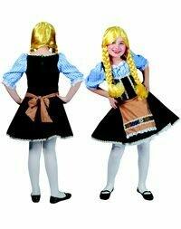 Tirolermeisje kostuum kind verkleedkledij Tirol voor 5 tot 6 jaar maat 116