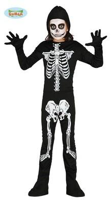 Skelet kostuum kind verkleedkledij geraamte Halloween Unisex voor 5 tot 6 jaat maat 116