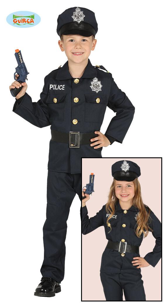 Politie pak kostuum kind verkleedkledij maat 128 voor 7 tot 9 jaar Agent Unisex