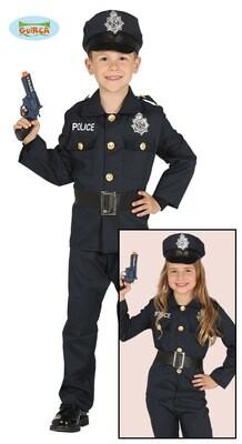 Politie pak kostuum kind verkleedkledij maat 116 voor 5 tot 6 jaar Agent Unisex