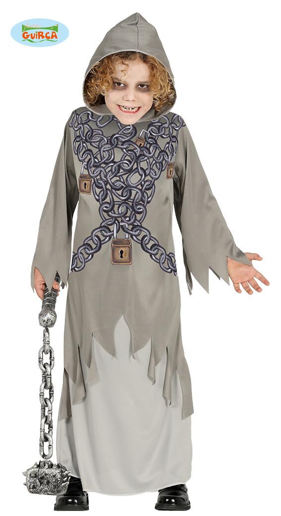 Geest met kettingen kostuum kind verkleedkledij Halloween voor 7 tot 9 jaar maat 128 Ghost Chains