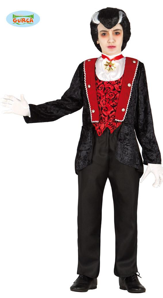Vampier Luxe kostuum kind Halloween verkleedkledij voor 7 tot 9 jaar Maat 128
