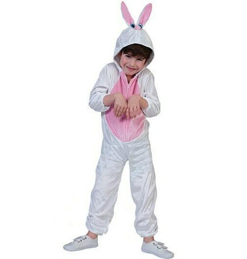 Konijn Onesie kostuum kind Bunny verkleedkledij dieren Maat 116 voor 5 tot 6 jaar