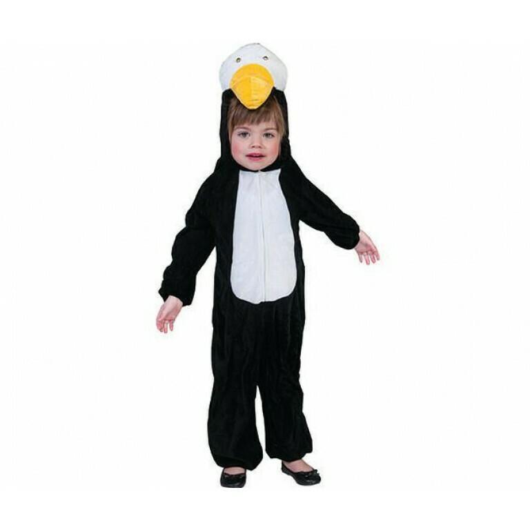 Pinguin Onesie kostuum kind  verkleedkledij dieren Maat 116 voor 5 tot 6 jaar