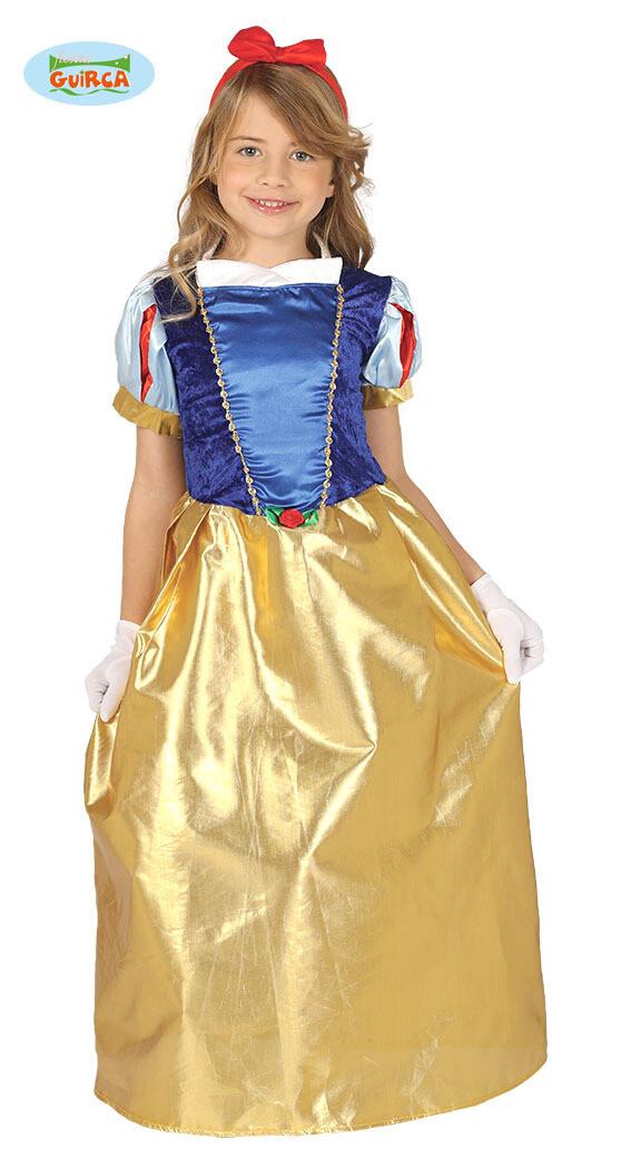 Sneeuwwitje kostuum kind Disney verkleedkledij voor 7 tot 9 jaar Maat 128