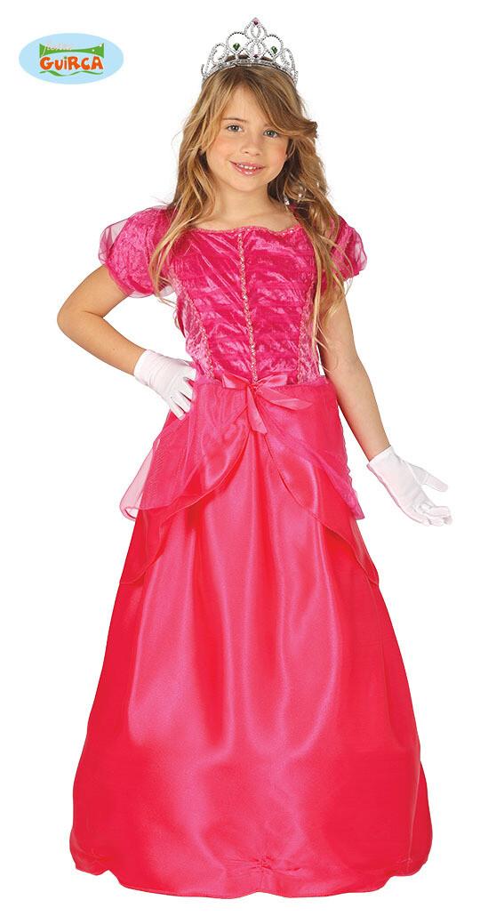 Prinses roze kostuum kind maat 128 voor 7 tot 9 jaar verkleedkostuum Disney Sprookjes Prinsessenjurk