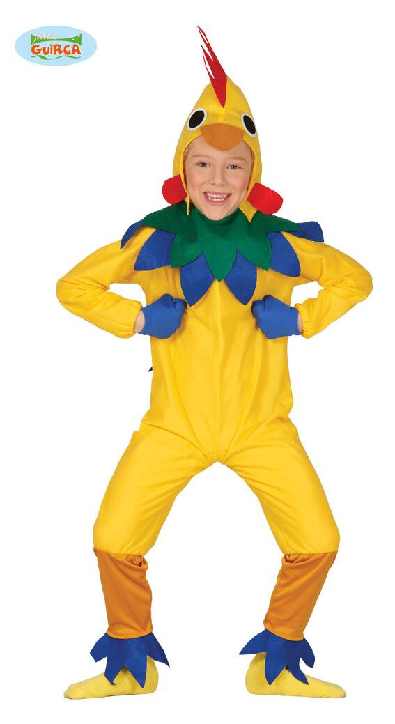 Kip vogel kostuum kind dieren verkleedkledij Maat 128 voor 7 tot 9 jaar