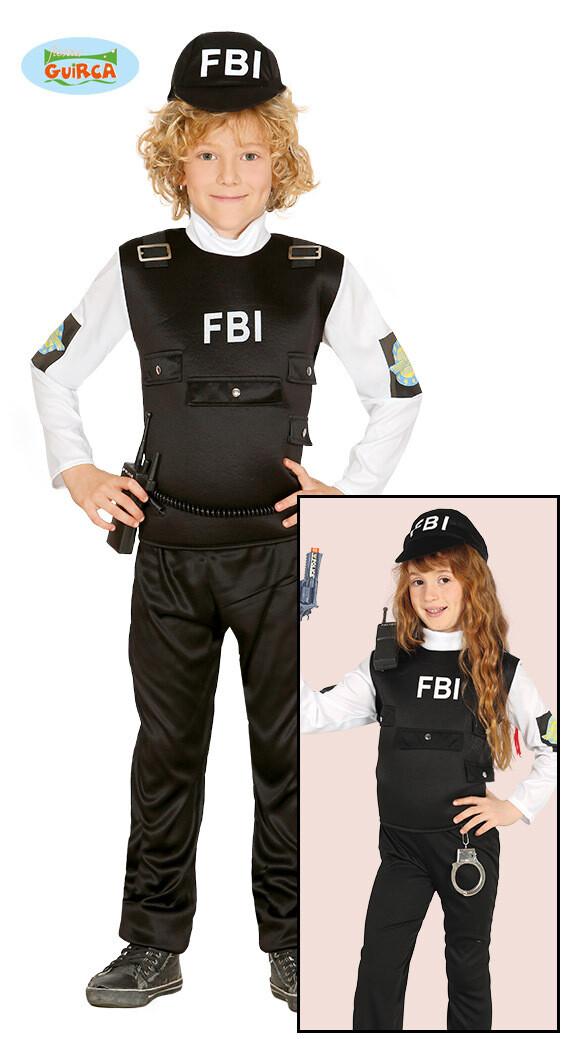 FBI agent kostuum kind verkleedkledij Politie agente voor 10 tot 12 jaar Maat 152