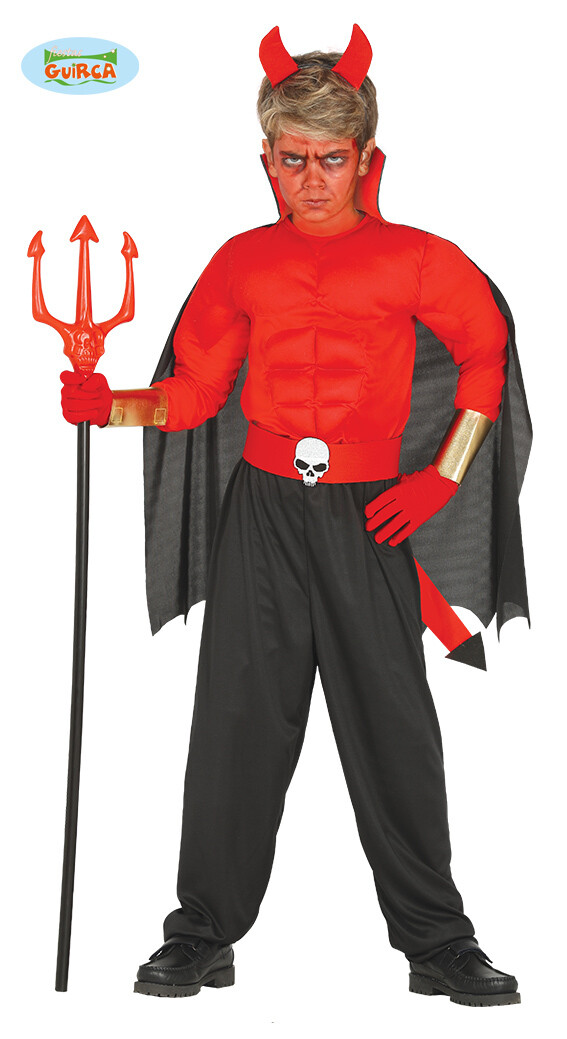 Duivel kostuum kind verkleedkledij Duivelspak voor 10 tot 12 jaar Maat 152 Halloween